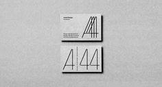 "illustratedstudy: ""A44 Identity ○ Studio: Molto Bureau ○ Location: Ukraine ○ Client: A44 Architecture ↪ """