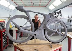 Robert Egger, Creative Director of Specialized, with his Eff You See Eye bike.