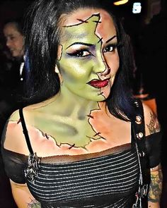 Pretty zombie halloween makeup | jill and the little crown: Pretty Scary Halloween Make-Up Ideas