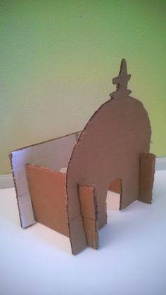 Recycled Cardboard Mosque {Tutorial} by A Crafty Arab