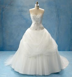 Disney-themed wedding dresses! This one is Belle's.