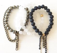the staple // barracuda + arctic fox + panther #kayandjobracelets #beadedbracelets #bracelets #handmadejewelry #armcandy