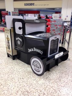 Temporary POS Display - 3D Design - Cardboard Design - In-Store Display - Jack Daniels Truck