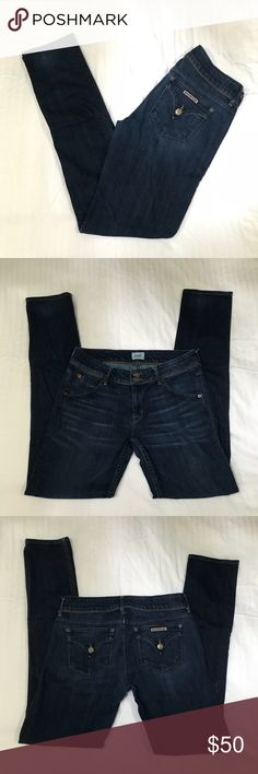 Hudson Collin Flap Skinny Jean Re posh.  Great used condition no flaws to note. Just didn't like the fit. Hudson Jeans Jeans Skinny