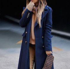 Total look camel et bleu marine - Bons plans mode