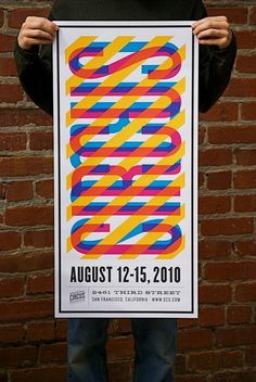 I like the use of different colours in this poster design and how the word circus is going in two directions but the pink is standing out more. I also like the effect the diagonal lines have on the type and how it ties all the colours together and makes the poster fun :)