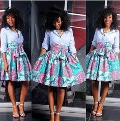 Wisher Skirt The African Shop African Print Skirt African Print Skirt, African Print Dresses, African Dresses For Women, African Attire, African Wear, African Women, African Prints, African Style, African Design