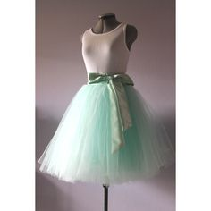Mint Green Tulle Skirt Tutu Skirt ($90) ❤ liked on Polyvore featuring skirts, grey, women's clothing, knee length tulle skirt, tutu skirts, layered tutu skirt, gray tutu and gray tutu skirt