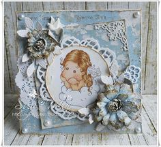 Suzi Mac Creations : Midweek Magnolias #135 Add Lace and Pearls
