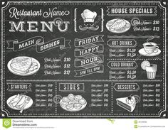 cafe chalkboard beverage menu ideas - Google Search