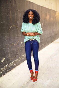 Style Pantry - http://stylepantry.com/2014/01/10/chunky-knit-dark-rinse-skinnies/