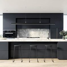 awesome Why People Love Modern Kitchen Architecture Features When you're remodeling your kitchen, don't neglect to get in touch with your insurance provider t. Big Kitchen, Little Kitchen, Kitchen Design, Best Kitchen Countertops, Kitchen Remodel Cost, Kitchen Trends, Kitchen Ideas, Black Cabinets, Selling Your House