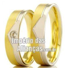 Alianças de casamento e noivado Largura 5.0mm Pedras 1 diamantes de 2 pontos Acabamento Liso e Fosco Formato Anatômico Peso 8,5 gramas o par