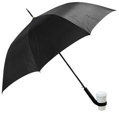 OMG! I can now keep dry walking in the rain, while reading a book and a cup holder will follow me with my coffee!