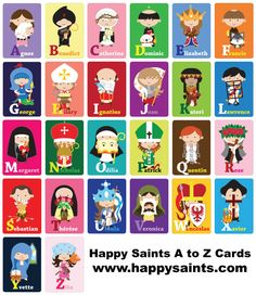 Happy Saints: Happy Saints A to Z Cards and eBook
