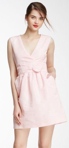 Petal pink bow dress perfect for a bridesmaid dress