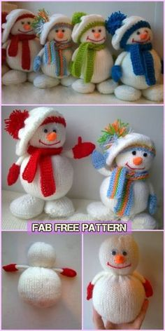 Knit Snowman Free Patterns Knit Snowman Free Patterns Learn the fact (generic term) of how to needle Knitted Dolls Free, Knitted Doll Patterns, Animal Knitting Patterns, Diy Free Knitting Patterns, Knitted Christmas Decorations, Christmas Crochet Patterns, Knit Christmas Ornaments, Christmas Sewing, Christmas Snowman