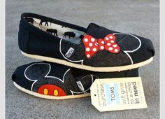 I Want These Toms Shoes With Mickey&Minnie Mouse On Them