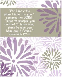 For I know the plans I have for you declares by EmilyBurgerDesigns. $20.00, via Etsy.