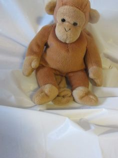"""Ty Beanie Babies 1995 Collection 9"""" Bongo the Monkey Good Condition  #Ty"""
