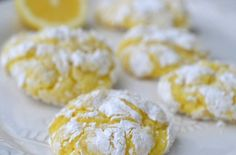 Perfect for Spring, Easter or when you want the fresh taste of lemon in a cookie or two! Lemon Cookies Easy, Lemon Crinkle Cookies, Gooey Cookies, Pudding Cookies, Low Carb Sweet Potato, Yellow Foods, Natural Food Coloring, Toffee Pudding, Keto Chocolate Chips