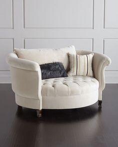 Haute House Harlow Ivory Cuddle Chair Library or Theater Room FurnitureShop Harlow Ivory Cuddle Chair from Haute House at Horchow, where you'll find new lower shipping on hundreds of home furnishings and gifts. Exclusively for You. Living Room Furniture, Home Furniture, Living Room Decor, Furniture Design, Bedroom Decor, Antique Furniture, Rustic Furniture, Modern Furniture, Cottage Furniture