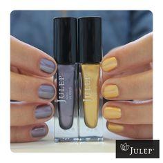 Classic with a Twist! Alfre: Royal metropolitan purple metallic,  Felicity: Yellow-gold metallic chrome
