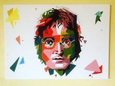 John Lennon - geometric art