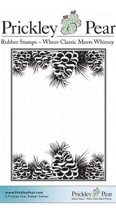 Prickley Pear Rubber Stamps - Pinecone ATC- Red Rubber Stamp, $7.20 (http://www.prickleypear.com/pinecone-atc-red-rubber-stamp/)