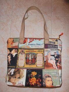 "Mala Vintage ""Tecidos de Portugal"" <3"