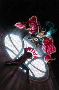 Spider-Man and Sorcerer Supreme Loki