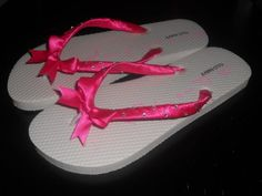 DIY Flip Flops for my Bridesmaids :  wedding black bridesmaid gift 1 bridesmaids diy flip flops reception rhinestones ribbon shoes Flops
