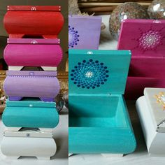 Colorful jewelleryboxes