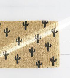 Black Cactus Doormat
