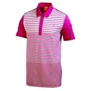 Puma Yarn Dye Stripe Mens Golf Shirt Beetroot