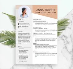 Modern Resume Template / CV Template Professional and Creative Resume Cv Template Word, Modern Resume Template, Resume Templates, Resume Words, Resume Cv, Cv Design, Resume Design, Design Ideas, Cv Photoshop