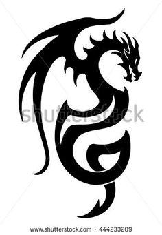Vector illustration of dragon tattoo design black stock vector (royalty free . - Vector Illustration of Dragon Tattoo Design Black Stock Vector (Royalty Free) 444233209 – Stock P - Dragon Tattoo Drawing, Dragon Tattoo Vector, Black Dragon Tattoo, Celtic Dragon Tattoos, Tribal Dragon Tattoos, Dragons Tattoo, Small Dragon Tattoos, Chinese Dragon Tattoos, Dragon Tattoo Designs