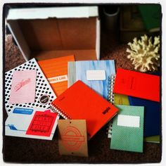 what am I doing right now? Unpacking a box of @radandhungry notebooks my mom passed along to me (yeah, it's obviously my lucky day)