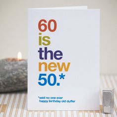 60th Birthday Card Humorous Sarcastic By WordplayDesignUk Poems Wishes Funny