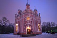 Chesmenskaya Church, St.Petersburg, Russia.