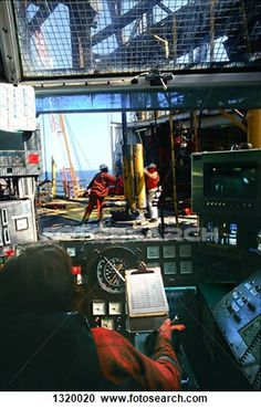 People working on oil platform seen from control room View Large Photo Image Oil Field Jobs, Oil Rig Jobs, Oilfield Man, Oil Platform, Work Camp, Energy Services, Company Job, Drilling Rig, Brother