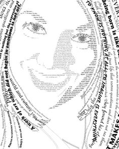 TEXT PORTRAIT on Behance Text Portrait, Portrait Images, Painting Pictures, Pictures To Paint, Typography Portrait, Graphic Design Lessons, Digital Text, Beige Background, Portrait Inspiration