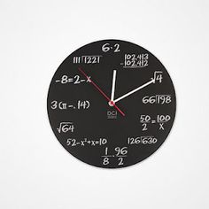 We all know students are looking at the clock to see what time class ends. At least with this clock, they can solve a math problem while counting the minutes until class ends.