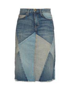 Denim Skirt Outfits, Skirt Pants, Jean Skirt, Sewing Jeans, Skirt Sewing, Patchwork Jeans, Denim Ideas, Jeans Rock, Recycled Denim
