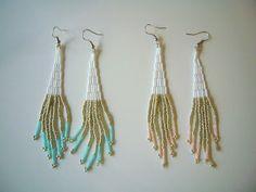 spring color beaded earrings.