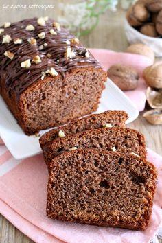plumcake cioccolato e noci con Bimby e senza Bimby