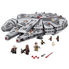 2016 Lepin 스타 워즈 밀레니엄 팔콘 우주 공간 선박 빌딩 블록 모델 장난감 크리스마스 선물 Legoed