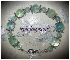 Handmade Silver Bracelet with Green Fluorite by IreneDesign2011 in my Etsy Shop at https://www.etsy.com/listing/185604811