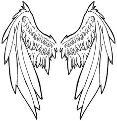 out the stencil in whatever size you like angel wings tattoo stencil . Tattoo Sketches, Tattoo Drawings, Art Sketches, Love Tattoos, Beautiful Tattoos, Wing Tattoos, Tatoos, Angel Wings Drawing, Wing Tattoo Designs