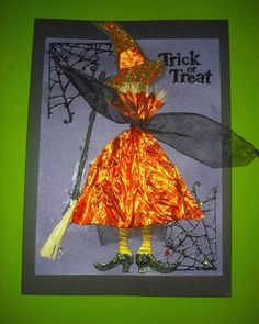 Halloween Cards - witch #2